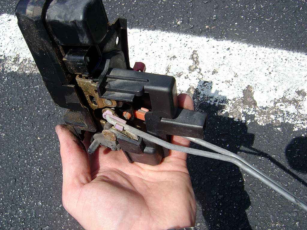 Replacing The Left Rear Door Lock Actuator    Latch On A 1999